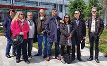 Une délégation de FO Com et les avocats de la Fédération étaient présents lors de l'ouverture du procès des dirigeants de France Télécom en soutien aux familles des victimes.