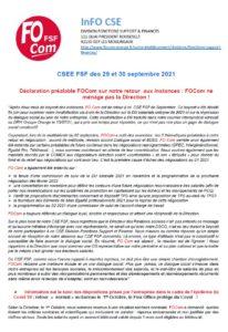 Brèves CSEE Orange FSF septembre 2021