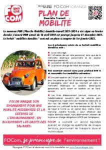 Plan de mobilité Domicile-Travail